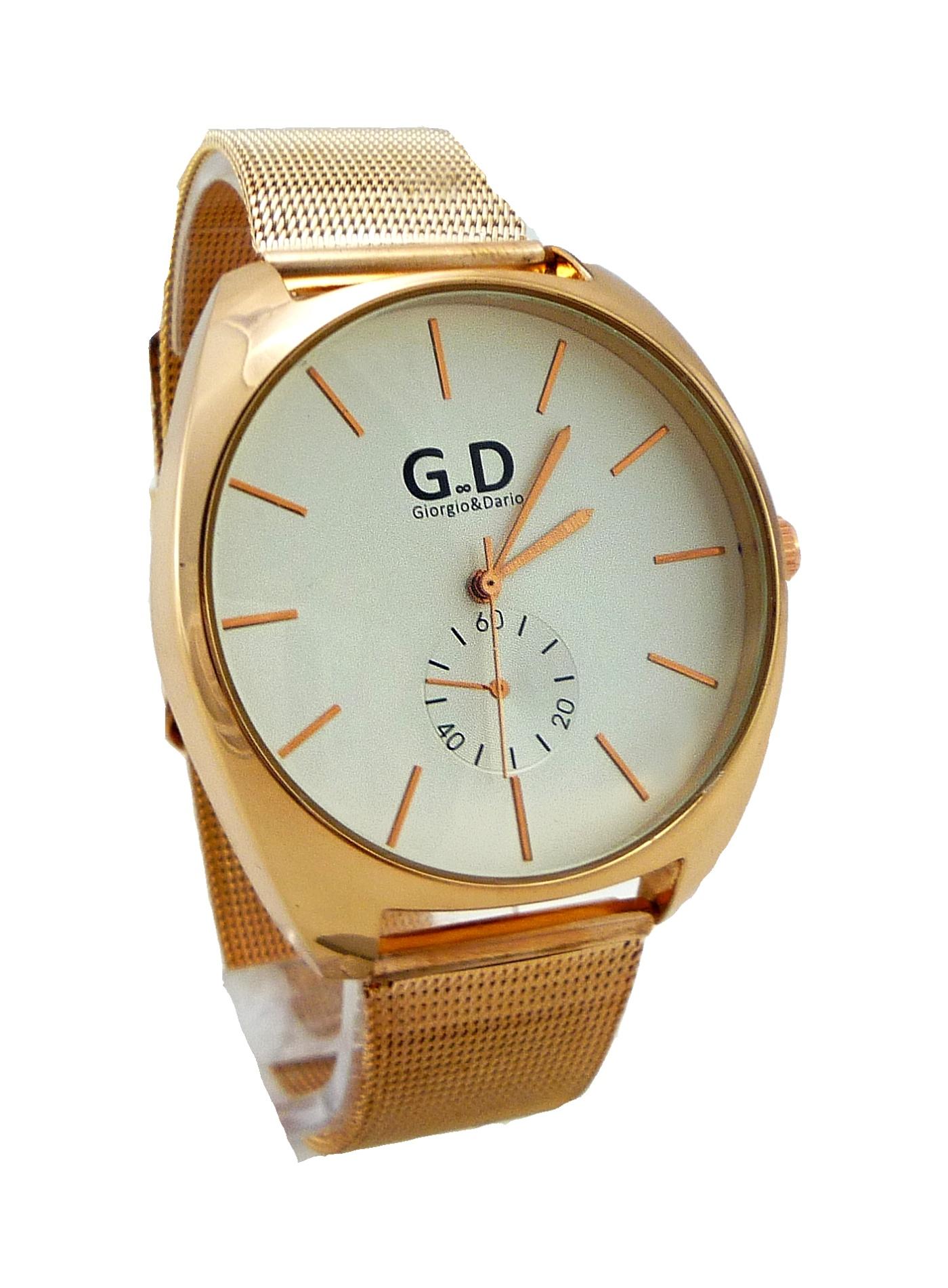 Dámské hodinky G.D Gold bronze 119D