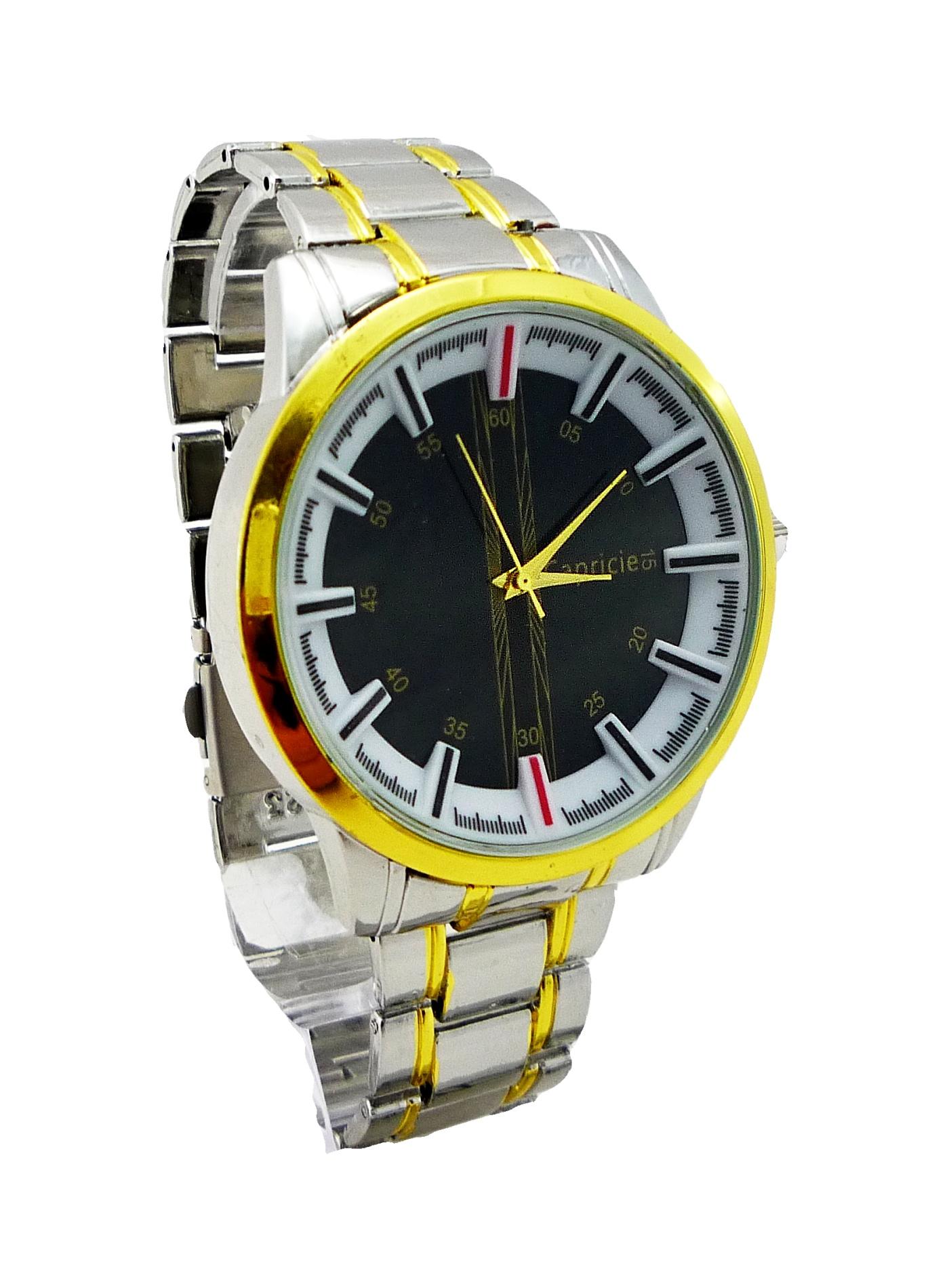 Pánské hodinky CAPRICIE Gold white 028P