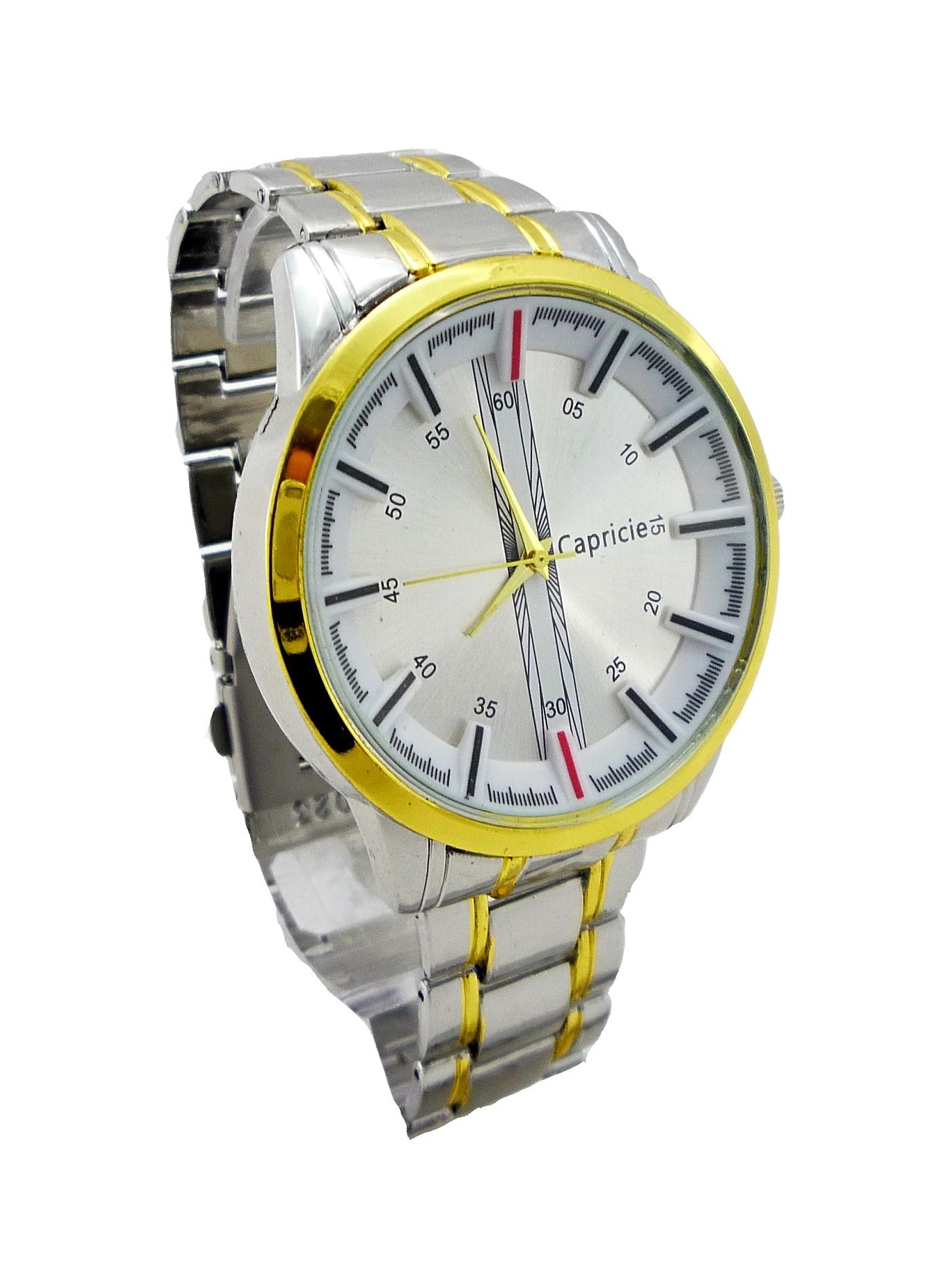 Pánské hodinky CAPRICIE Gold white 067P