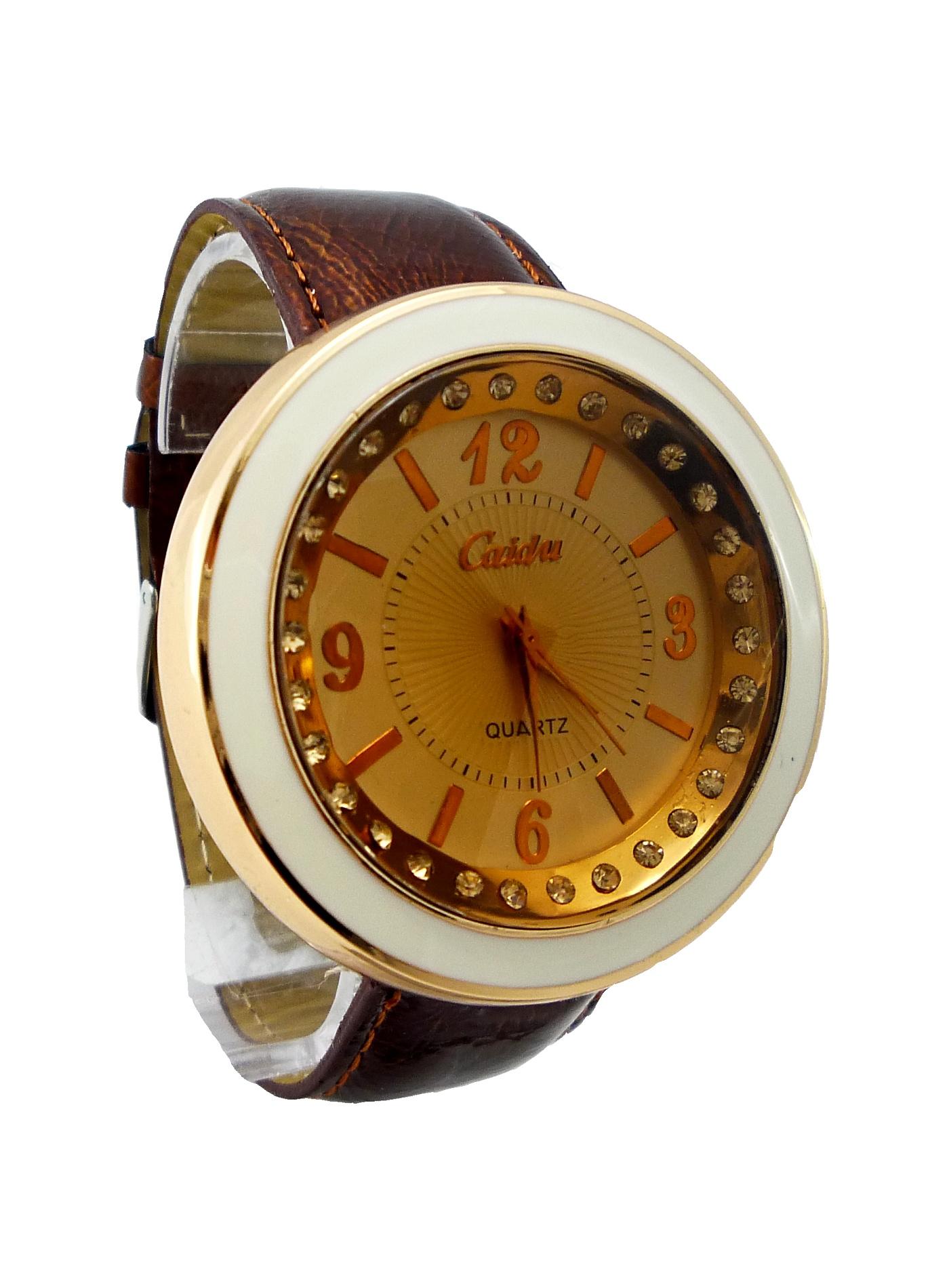 Dámské kožené hodinky CAIDU Brown 018D