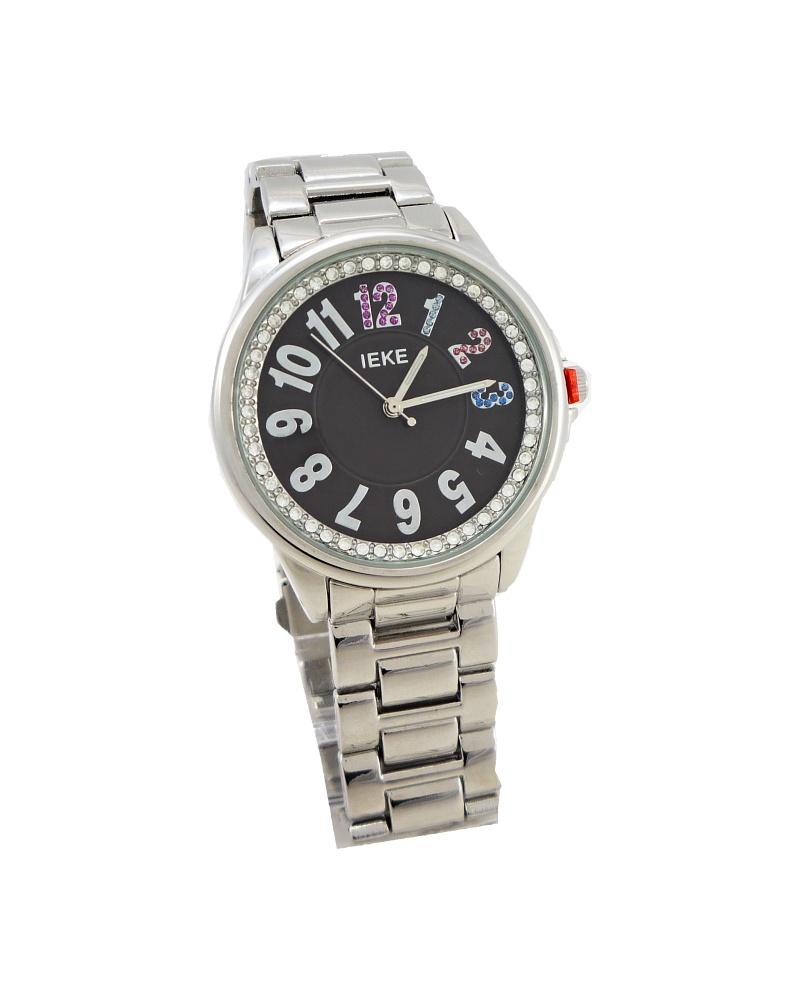 Dámské stříbrné hodinky IEKE Silver black 156D