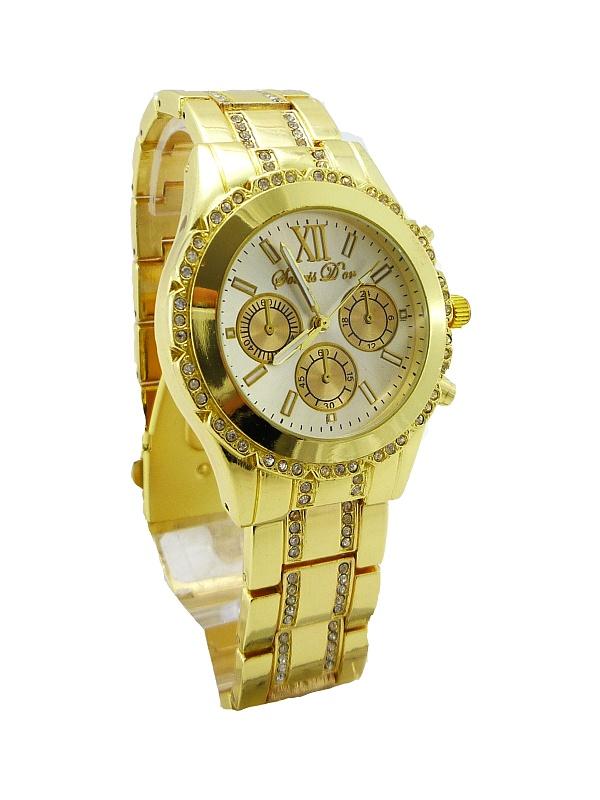 Dámské hodinky Douris Door zlaté 205D