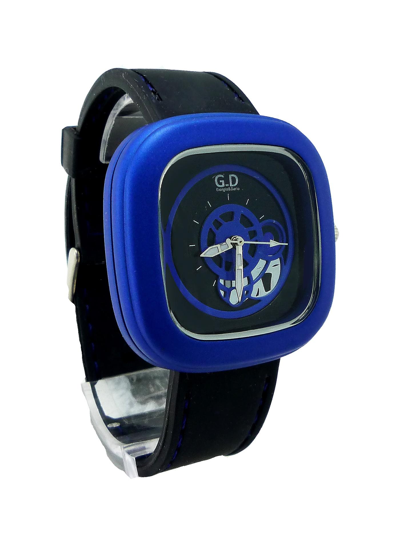 Pánské sportovní hodinky G.D Black blue 206P