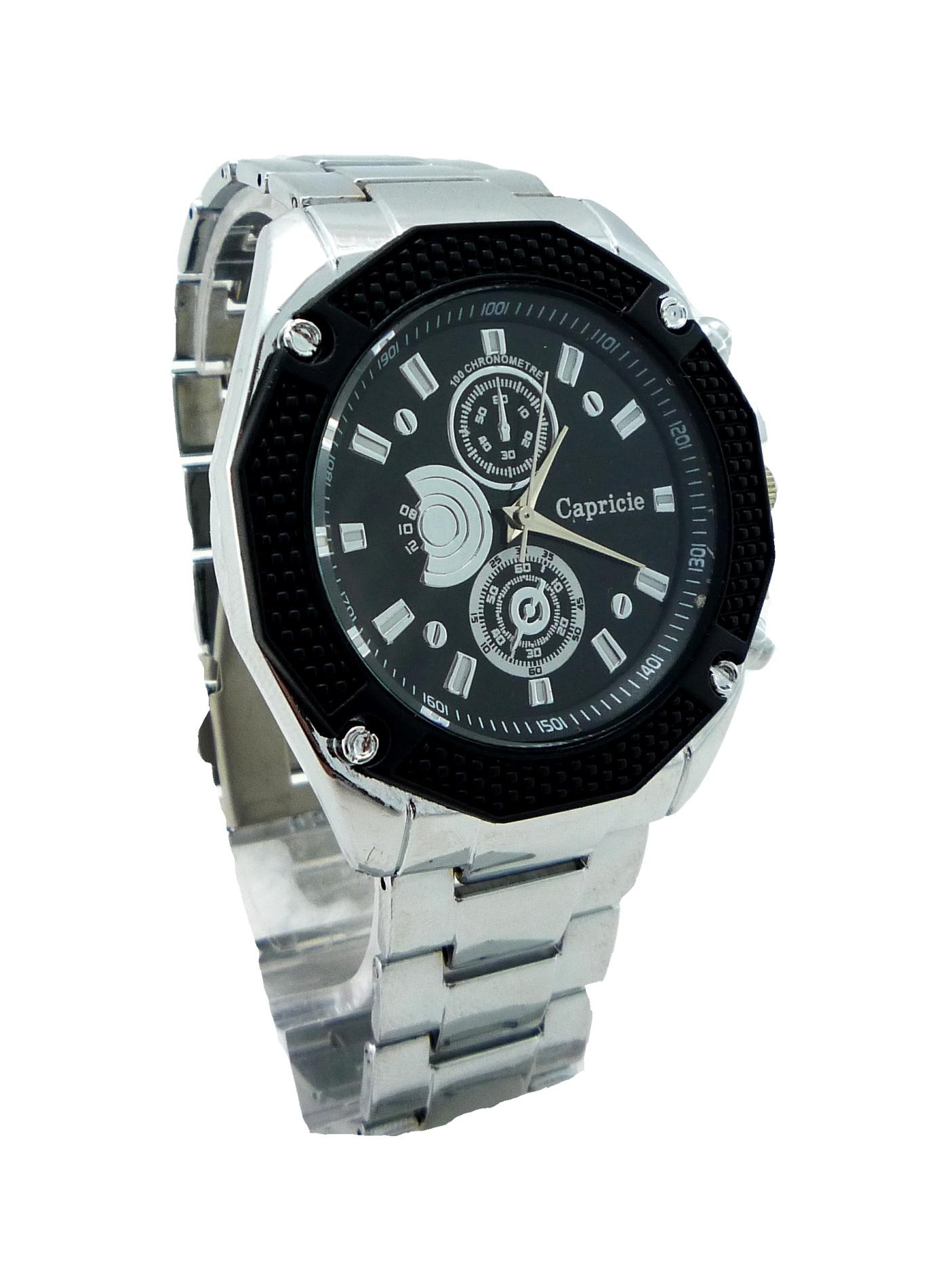 Pánské elegantní hodinky CAPRICIE Silver black 207P