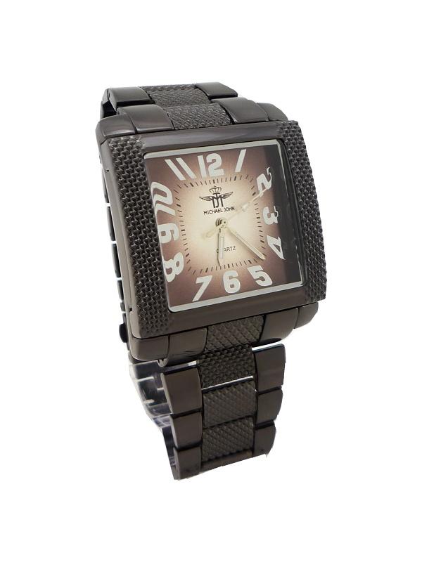 Hranaté pánské hodinky Kohn černé 068P