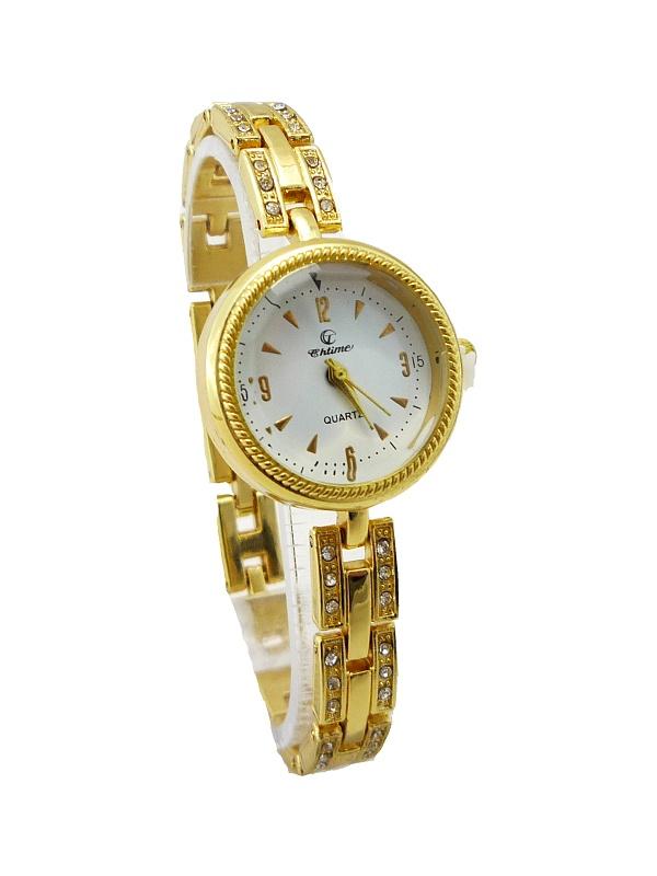 Dámské zlaté hodinky CHTIME Gold fine 214D
