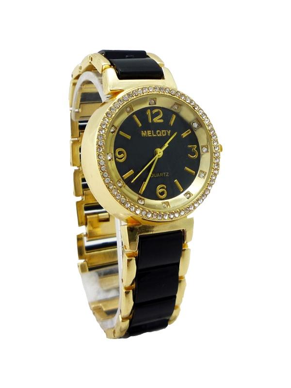 Dámské hodinky Melody Nice černo-zlaté 217D