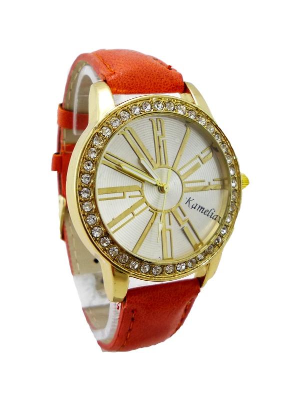 Dámské hodinky Kamelia oranžové 213D