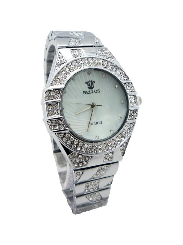 Dámské stříbrné hodinky BELLOS Silver extra 215D