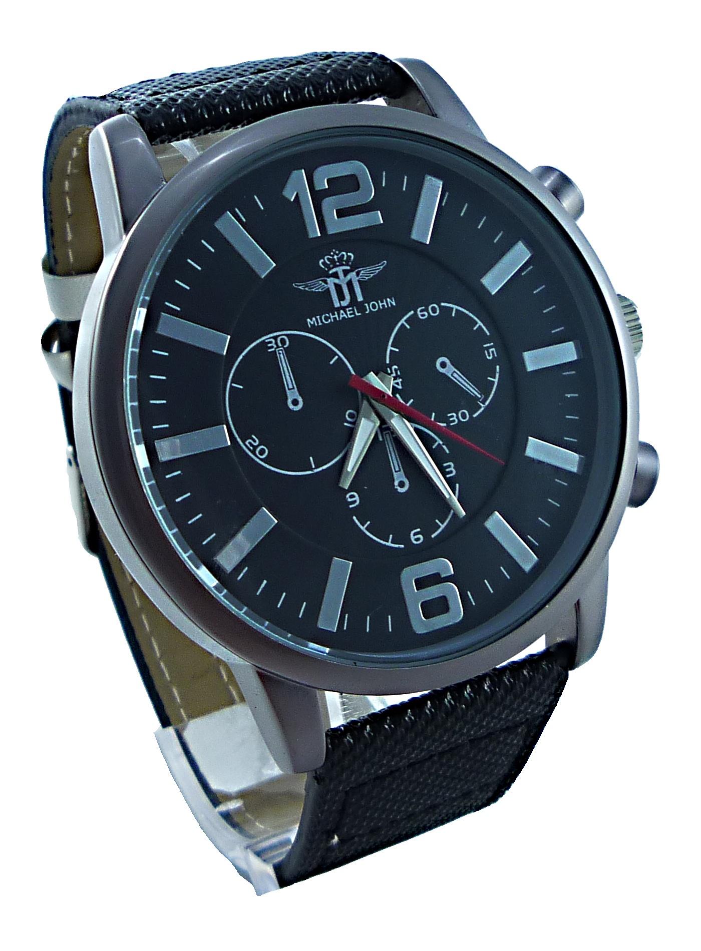 Černo-bílé sportovní hodinky Michael 060P