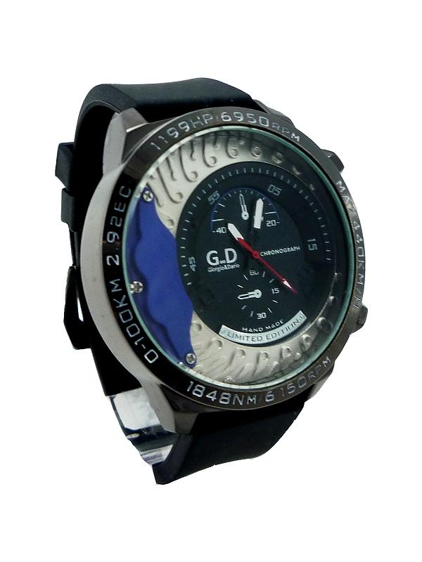 Pánské hodinky G.D Black blue metal 222P
