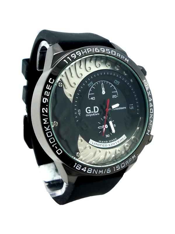 Pánské hodinky G.D Black metal 215P