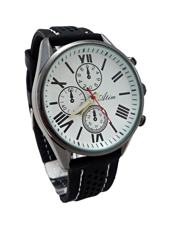 Pánské kožené hodinky ATIM černé 230P