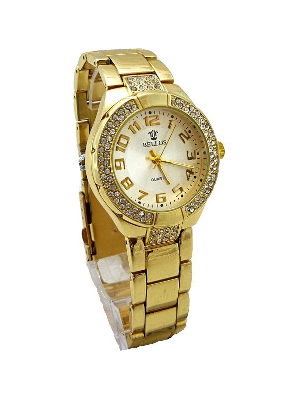 Dámské zlaté hodinky BELLOS Gold nice 233D