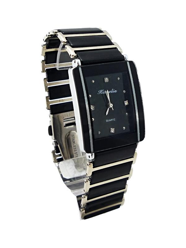 Dámské hodinky KAMELIA Silver black square 139D
