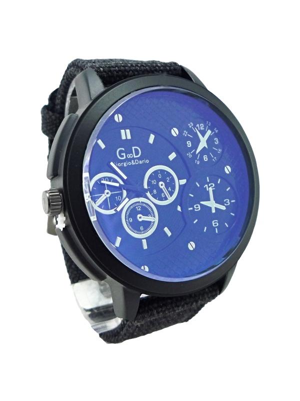 Pánské kožené hodinky G.D Black protean 236P