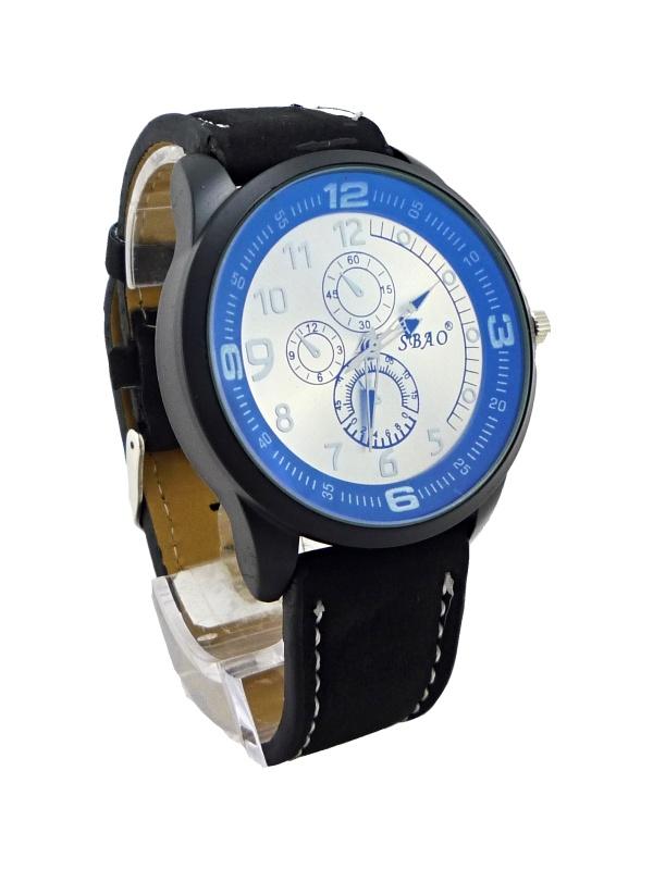 Pánské kožené hodinky SBAO Protean černé 242P