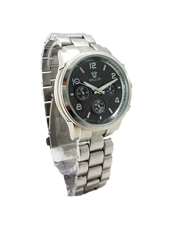 Dámské stříbrné hodinky Bellos Grafit 191D
