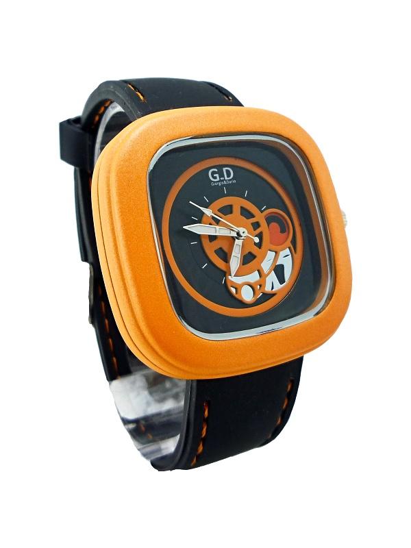 Pánské sportovní hodinky G.D Black orange 253P