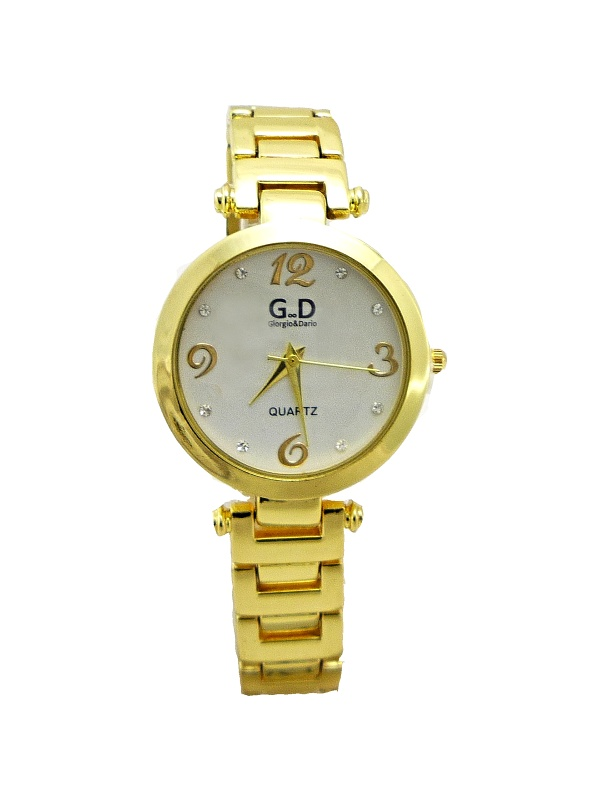 Dámské zlaté hodinky G.D Gold elegant 267D