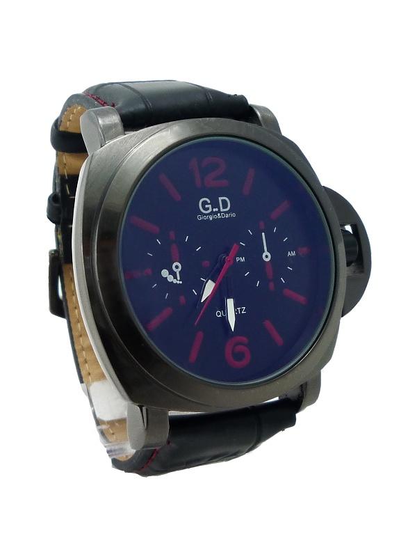 Pánské kožené hodinky G.D Time černé 259P