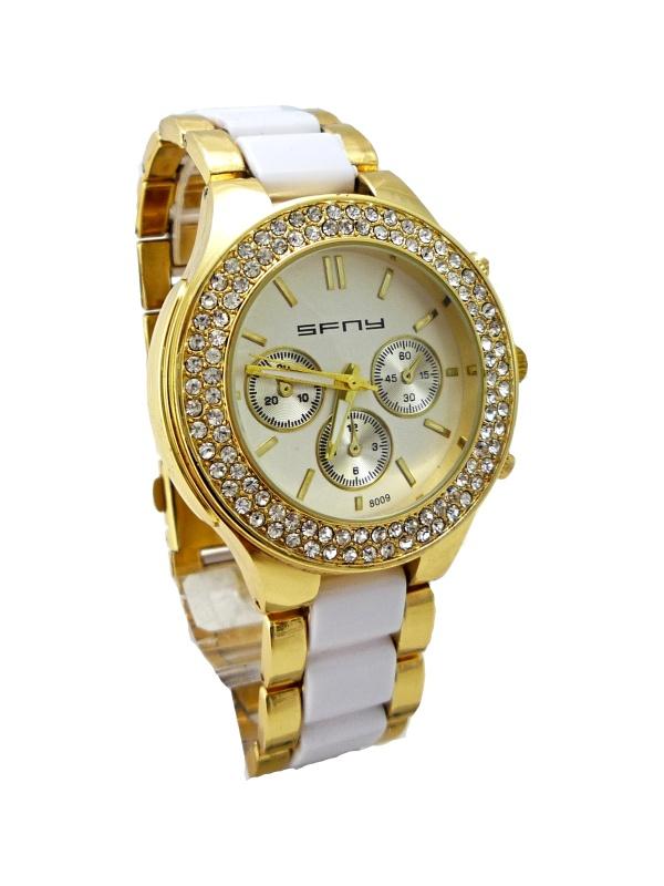 Dámské hodinky SFNY bélo-zlaté 258D