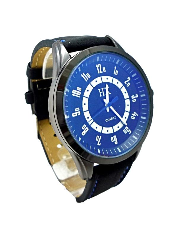 Pánské hodinky HX Quartz Black blue 032P