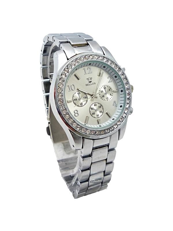 Dámské stříbrné hodinky Bellos Silver elegant 262D