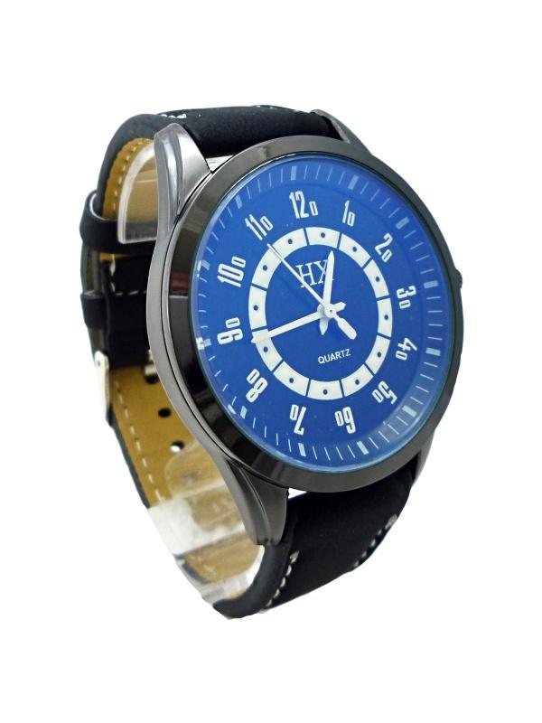 Pánské hodinky HX Quartz Black white 064P