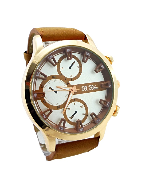 Pánské hodinky B. Blue brown 009P