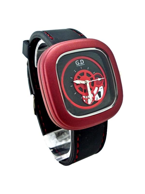 Pánské sportovní hodinky G.D Black red 252P