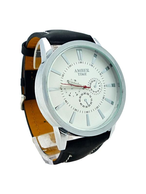 Pánské hodinky AMBER TIME Black white nice 269P