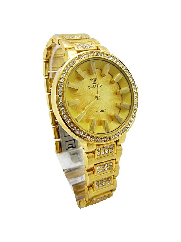 Dámské hodinky Bellos Quartz Bee zlaté 306D