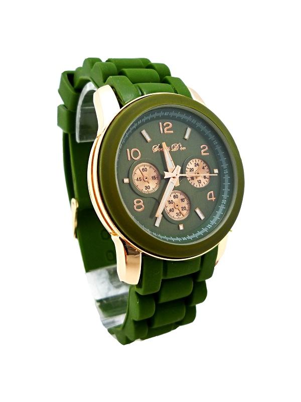 Dámské khaki hodinky Durand green 275D