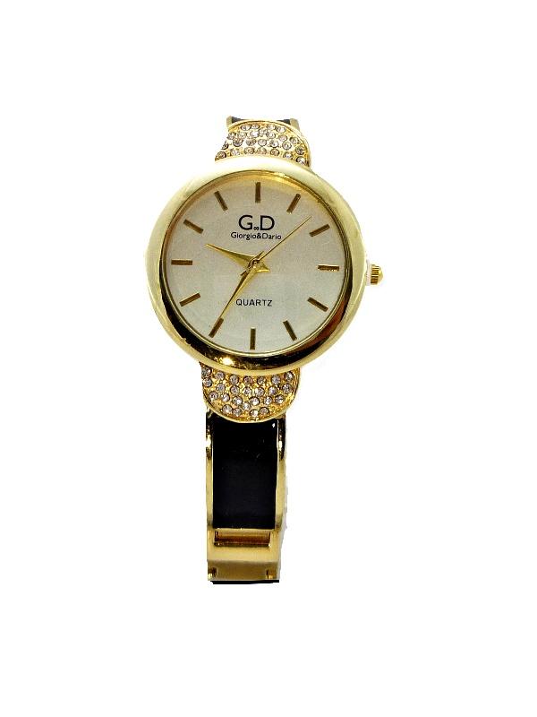 Dámské hodinky G.D Fashionable černo-zlaté 302D