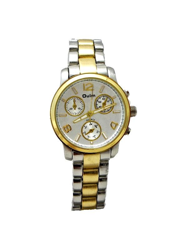 Dámské stříbrno-zlaté hodinky OULM Quartz Silver 295D