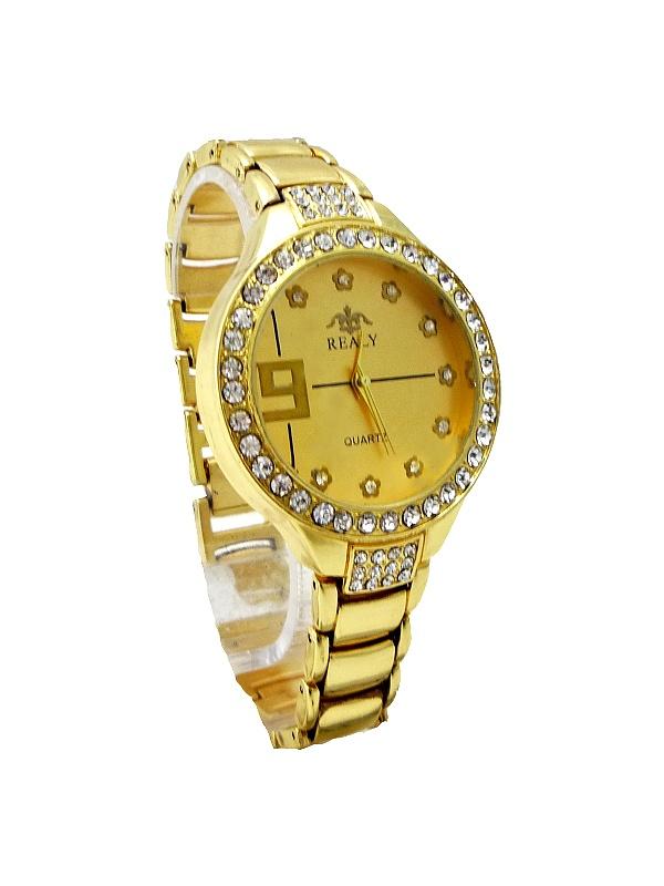 Dámské hodinky REALY Quartz zlaté 321D