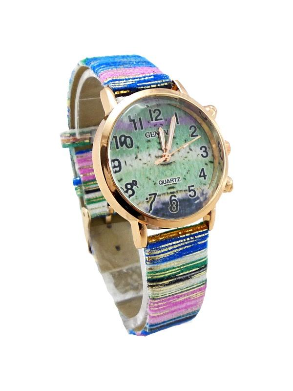 Dámské hodinky Geneva Quartz mix modré 287D