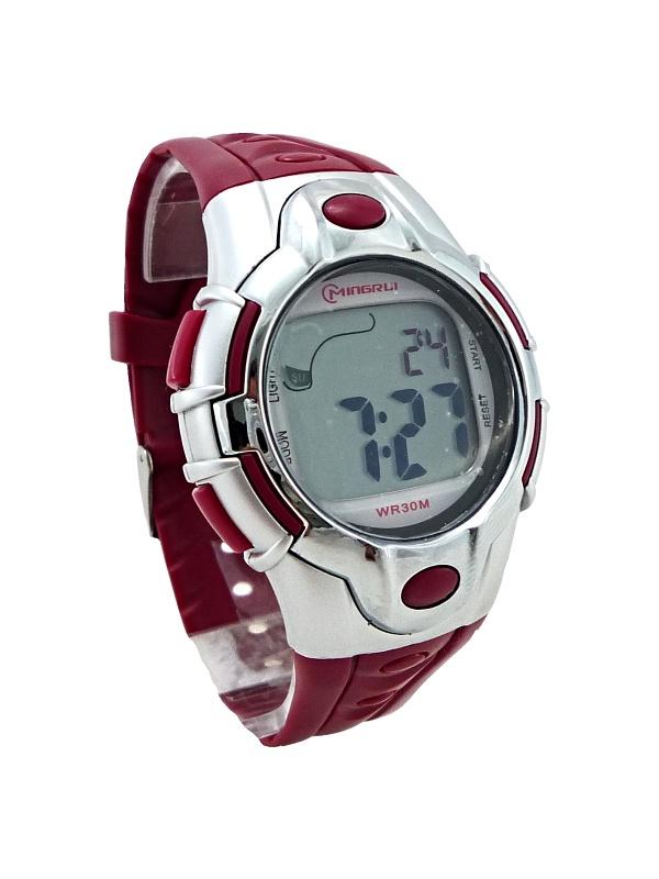 Pánské digitální hodinky Mingrui Red silver 278P