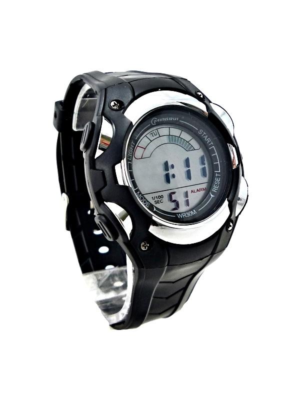 Pánské digitální hodinky Mingrui Black silver extra 279P