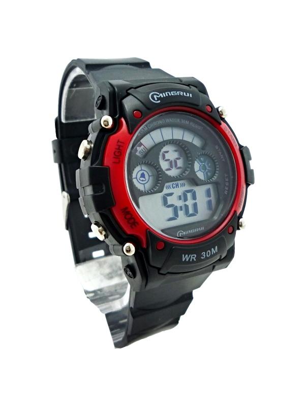 Pánské digitální hodinky Mingrui Black red 281P