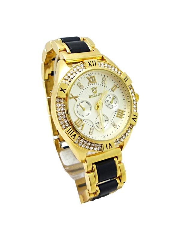 Dámské hodinky Bellos Ecentric černo-zlaté 310D