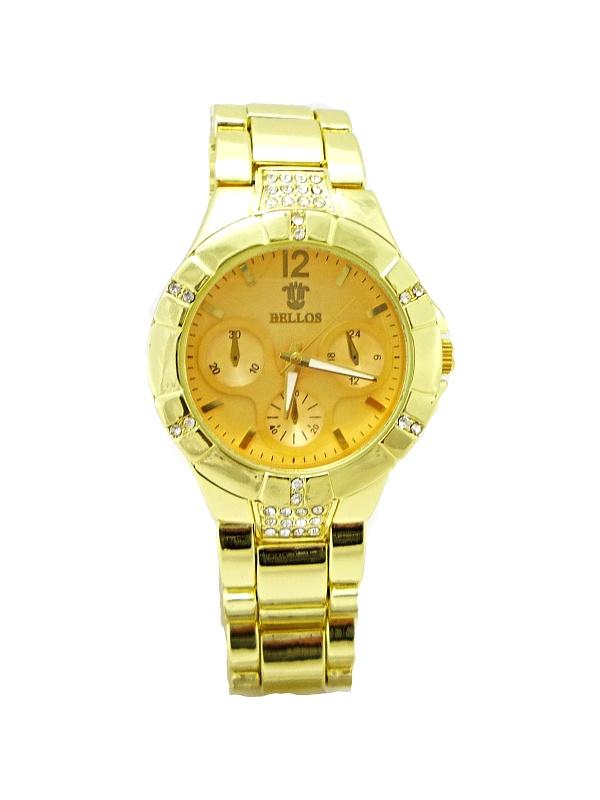 Dámské hodinky Bellos Handsome zlaté 336D