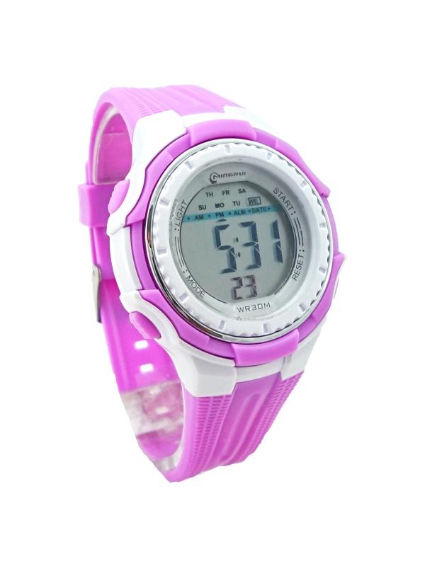 Digitální hodinky Delechelon Rose white 358D