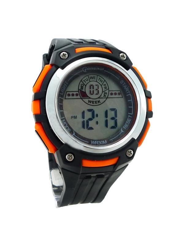 Pánské digitální hodinky Mingrui Black silver 283P