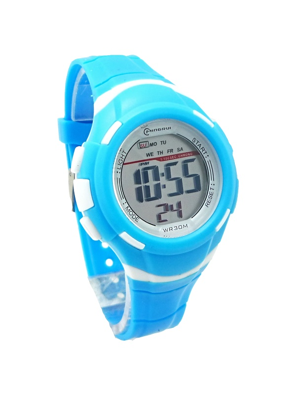 Digitální hodinky Delechelon Blue white 361D