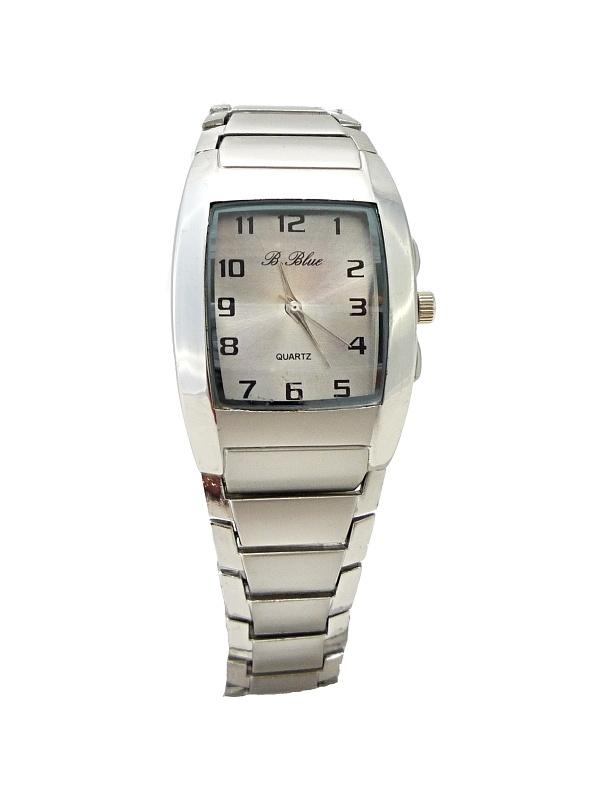 Dámské stříbrné hranaté hodinky B.BLUE Silver 364D