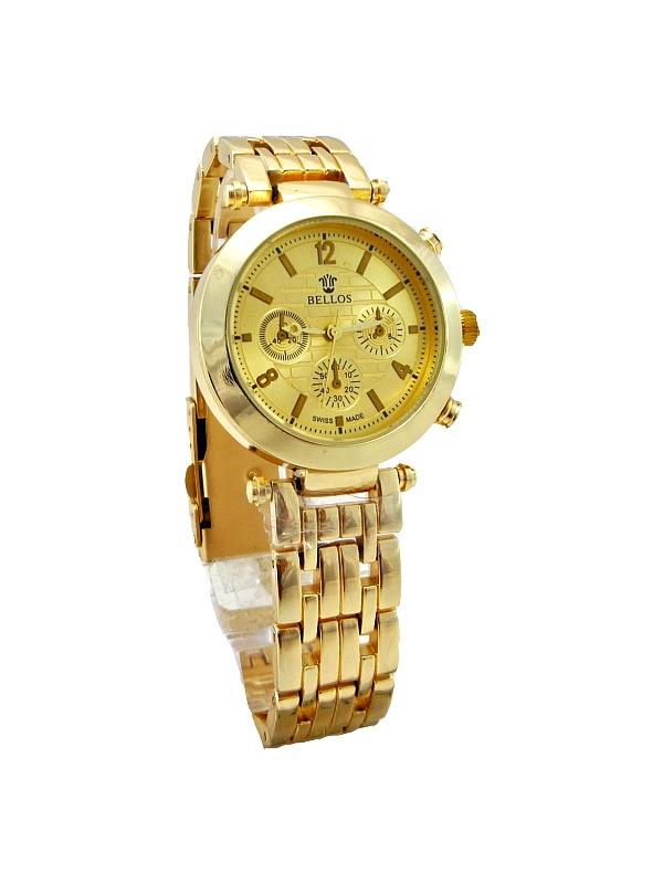 Dámské zlaté hodinky BELLOS Johny Gold 341D