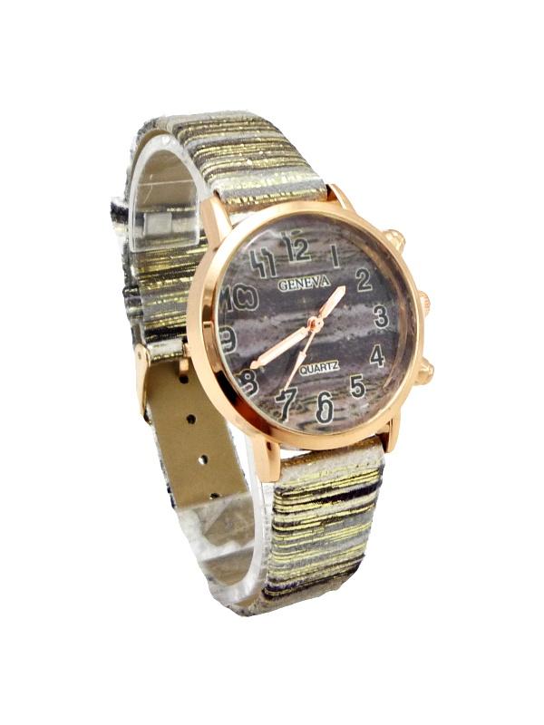 Dámské hodinky Geneva Quartz mix hnědé 288D