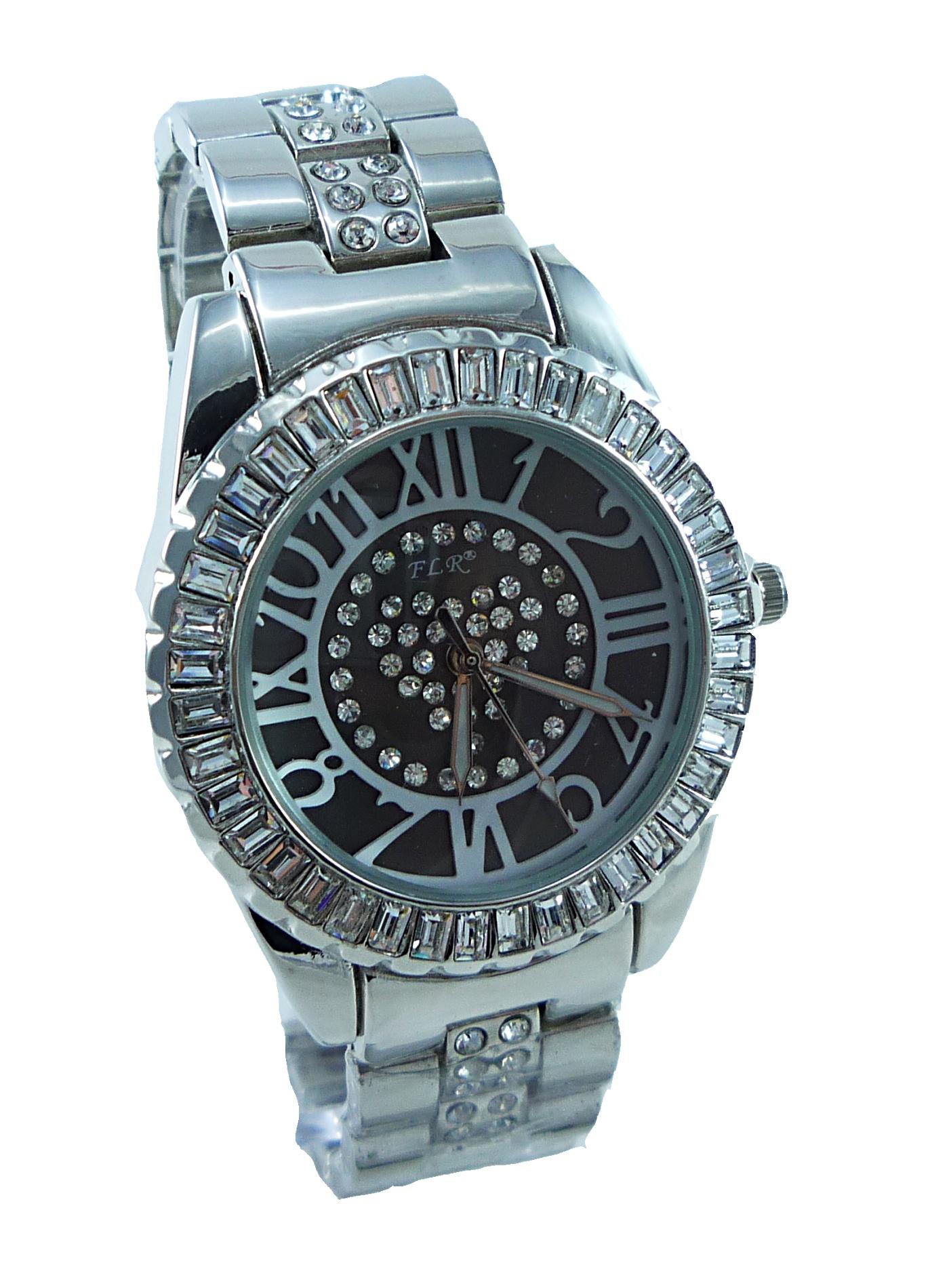 Dámské stříbrné hodinky FLR EXTRA silver 041D